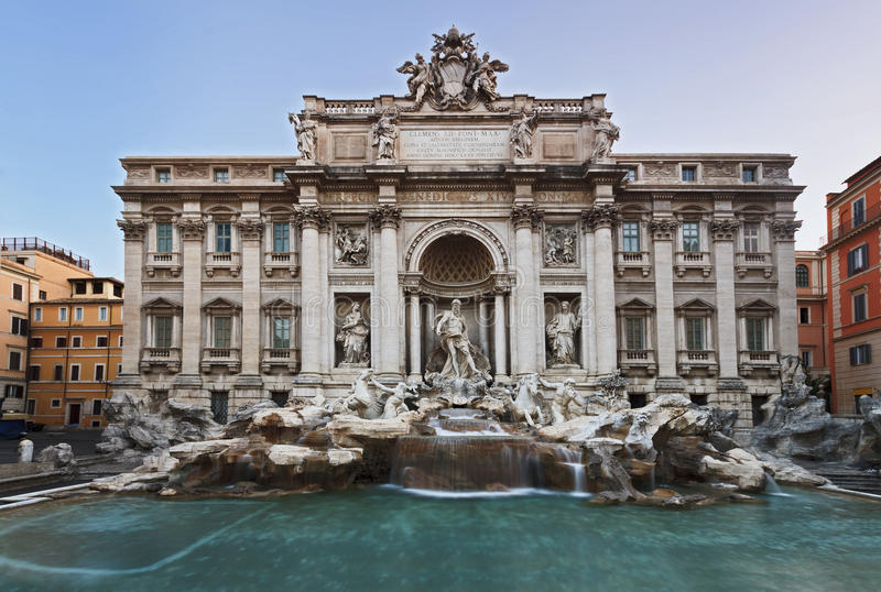 Rome Trevi Front royalty free stock photo