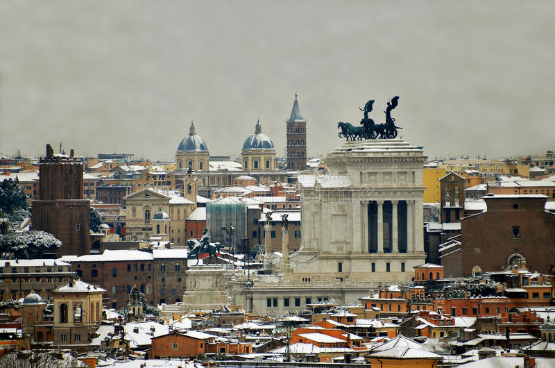 Download Rome under snow stock image. Image of monuments, cities - 23269071