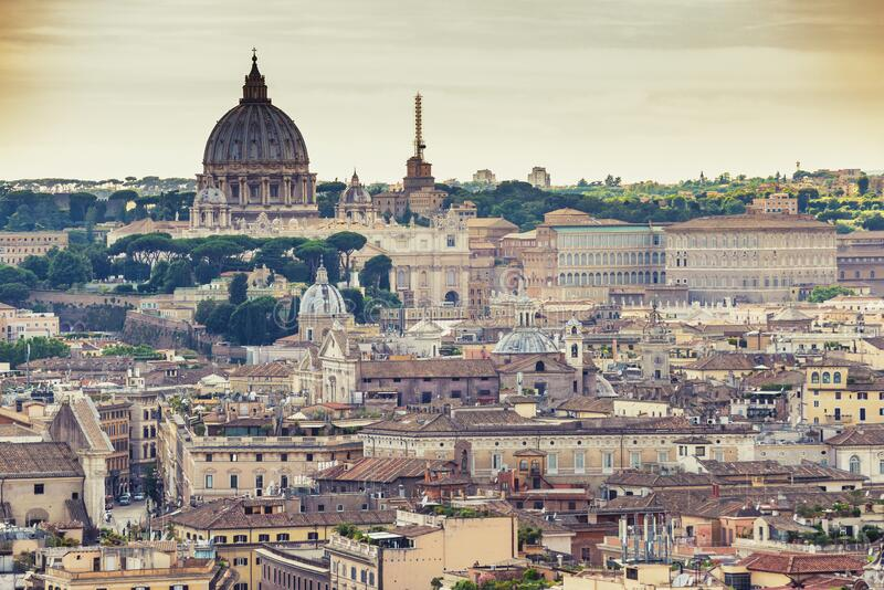 Rome Vatican Italy city skyline stock images
