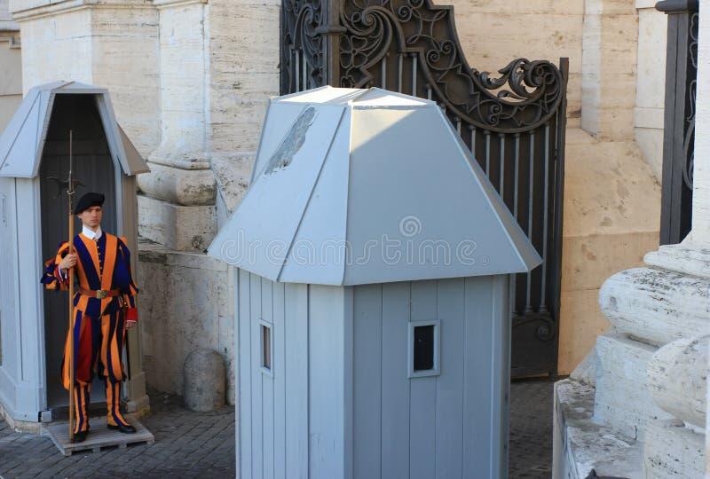 Rome Vatican, Italy - Saint Peter basilica gardians royalty free stock photography
