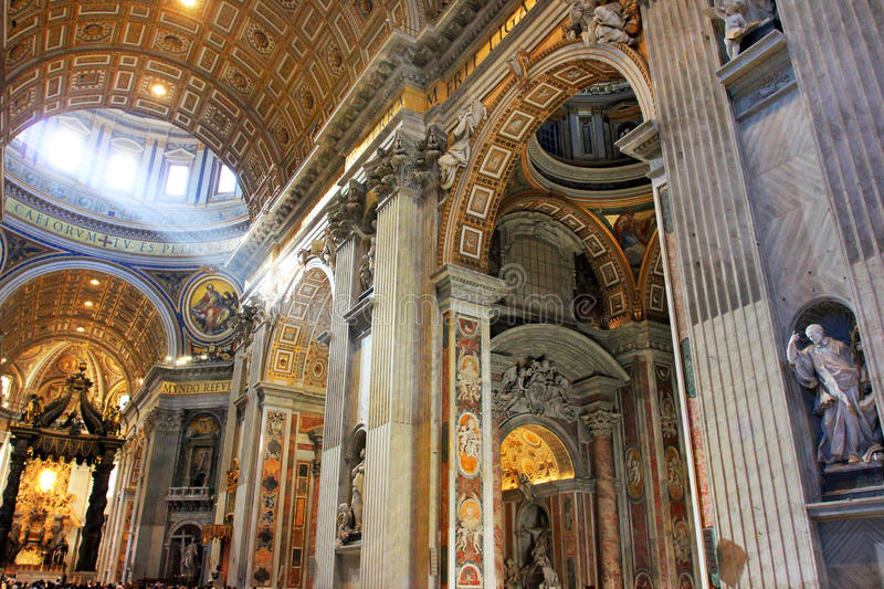 Rome Vatican, Italy - Saint Peter basilica stock images
