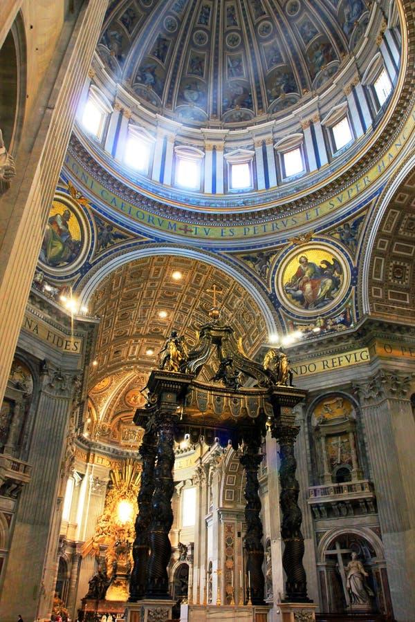 Rome Vatican, Italy - Saint Peter basilica royalty free stock photo