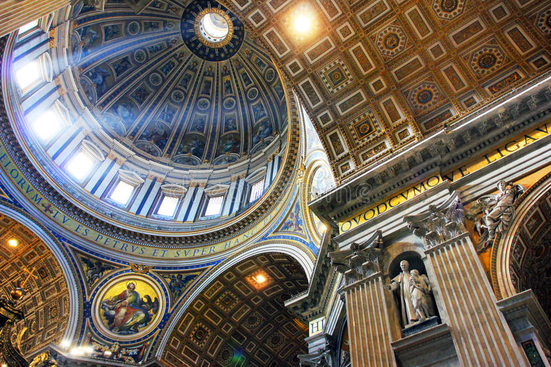 Rome Vatican, Italy - Saint Peter basilica royalty free stock photos
