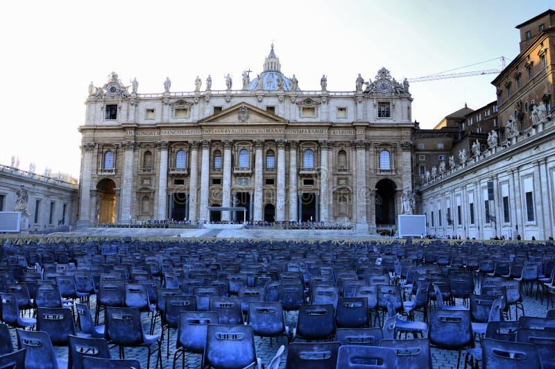 rome vatican Place du ` s de St Peter après la masse image stock