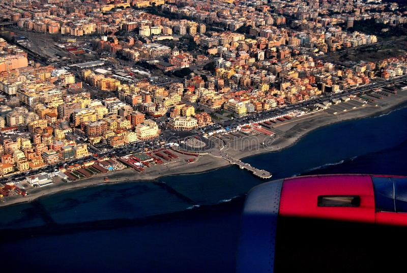 Rome,view from airplane stock images