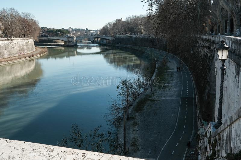 Roma the river Tevere stock photography