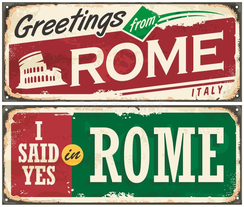 Rome vykortbegrepp vektor illustrationer