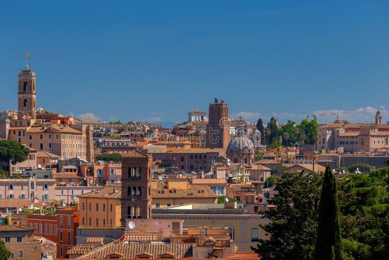 rome Widok miasto od Aventine wzgórza fotografia royalty free