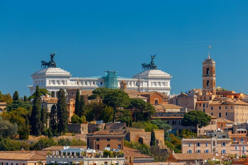 rome Widok miasto od Aventine wzgórza zdjęcia royalty free