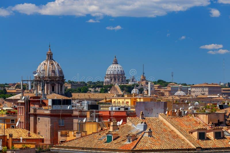 rome Widok miasto od Aventine wzgórza zdjęcie stock