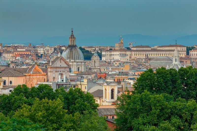 rome Widok miasto od Aventine wzgórza fotografia stock