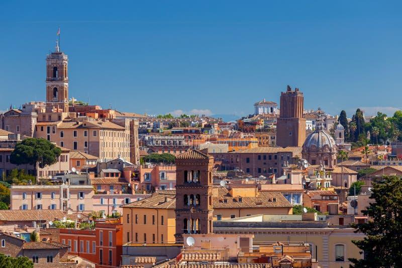 rome Widok miasto od Aventine wzgórza zdjęcia stock