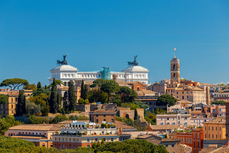 rome Widok miasto od Aventine wzgórza zdjęcie royalty free