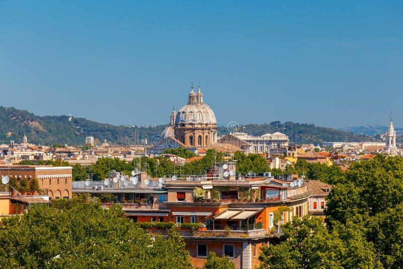 rome Widok miasto od Aventine wzgórza obrazy royalty free