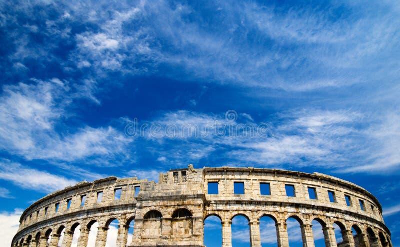 Romein amphiteater in Pula, Kroatië royalty-vrije stock foto