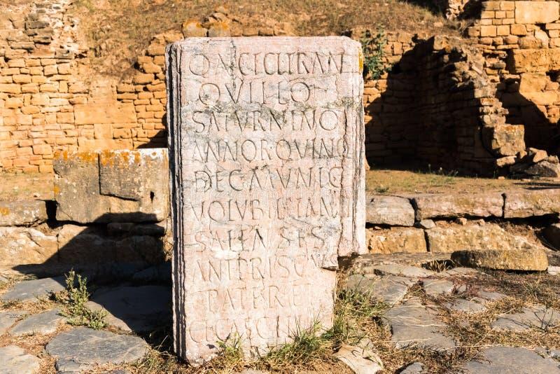 Romein desc van het oude necropool van Chellah in de stad van Rabat, Marokko stock afbeeldingen
