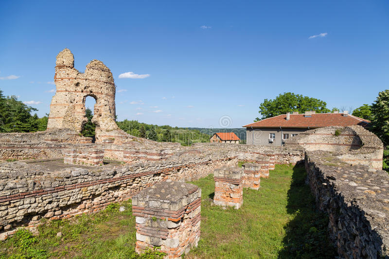 "Romein forttress in Kula †""Castra Martis royalty-vrije stock afbeelding"