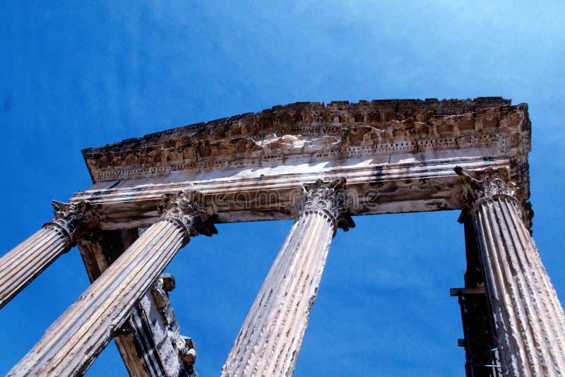 Romein ruïneert Tunesië stock afbeelding