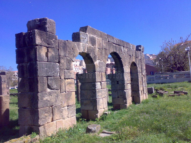 Romein ruinsTigzirt royalty-vrije stock afbeelding