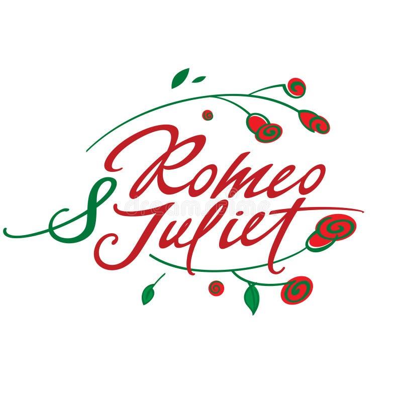 Romeo e Juliet ilustração do vetor