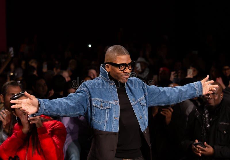 Romeo Hunte Men och för kvinnor FW19 landningsbanashow som delen av New York Fashion Week royaltyfria foton