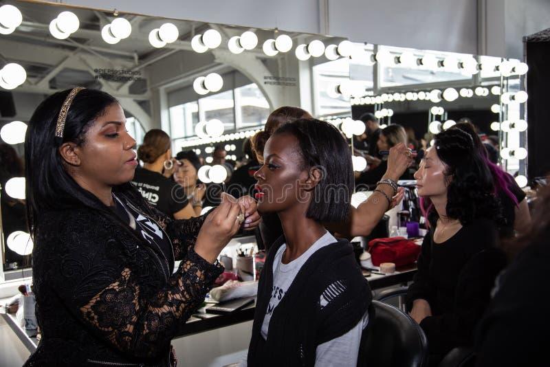Romeo Hunte Men och kvinnamodeshow som delen av New York Fashion Week arkivfoto