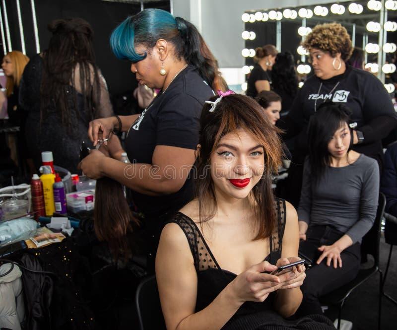 Romeo Hunte Men och kvinnamodeshow som delen av New York Fashion Week arkivfoton