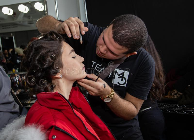 Romeo Hunte Men och kvinnamodeshow som delen av New York Fashion Week royaltyfria bilder