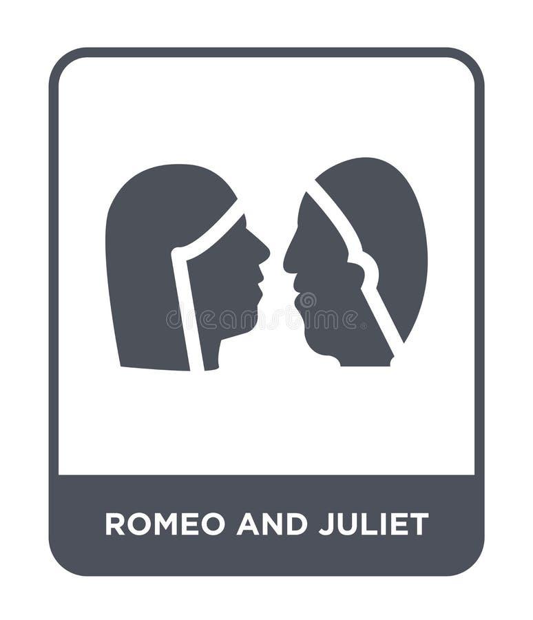 romeo i juliet ikona w modnym projekcie projektuje romeo i juliet ikona odizolowywająca na białym tle romeo i juliet wektoru ikon royalty ilustracja