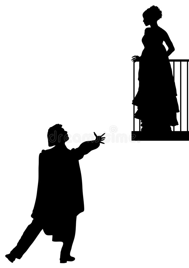 Romeo and Juliet royalty free illustration