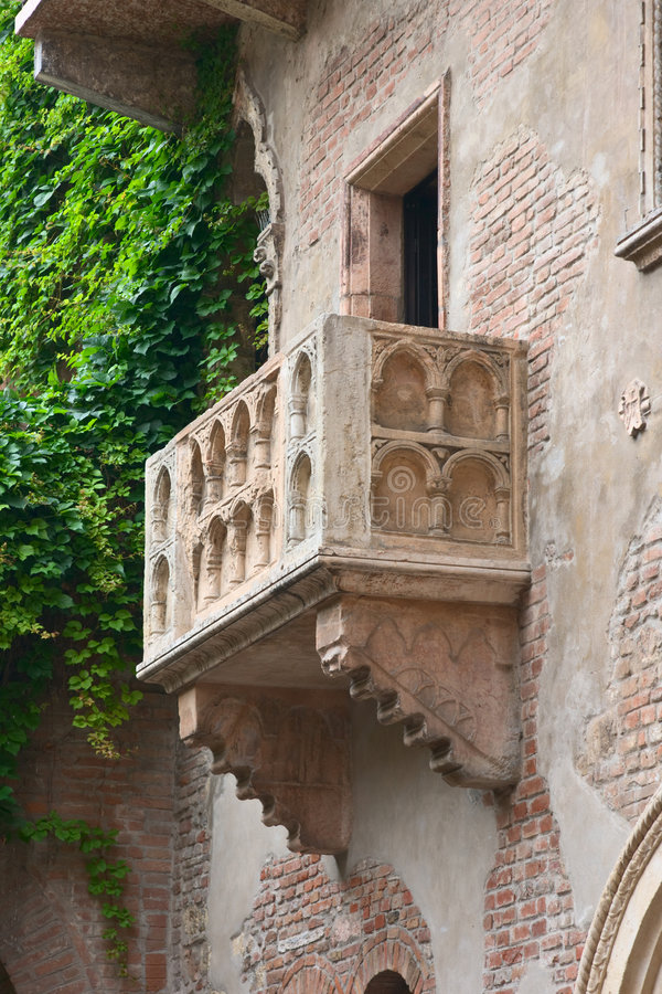 Romeo and Juliet balcony, Vero royalty free stock photos