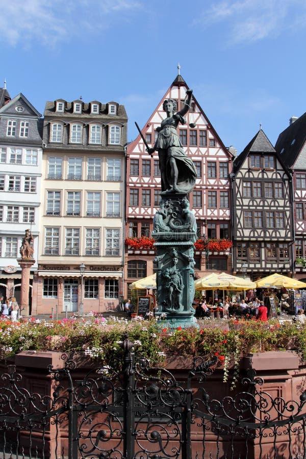 Romer kwadrat w Frankfurt na magistrali, Niemcy zdjęcie stock