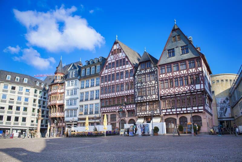 Romer Platz stary miasto Frankfurt magistrala, Niemcy - Am - zdjęcie royalty free