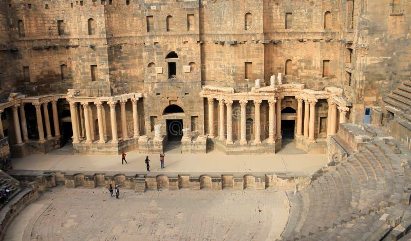 Romersk amfiteater Bosra - Syrien arkivbilder
