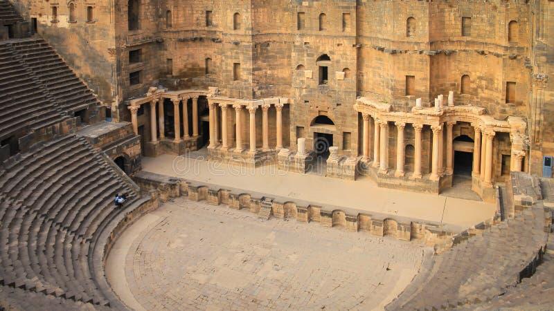 Romersk amfiteater Bosra - Syrien fotografering för bildbyråer