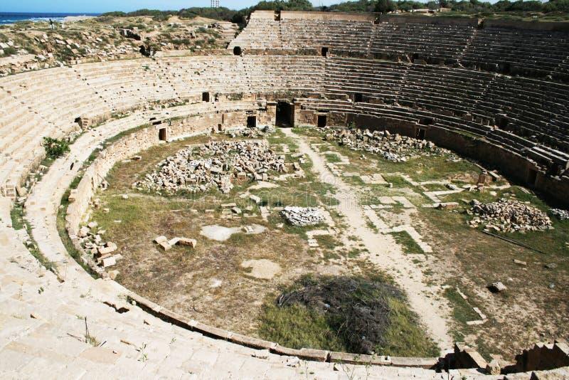 Romersk amphitheater royaltyfria foton