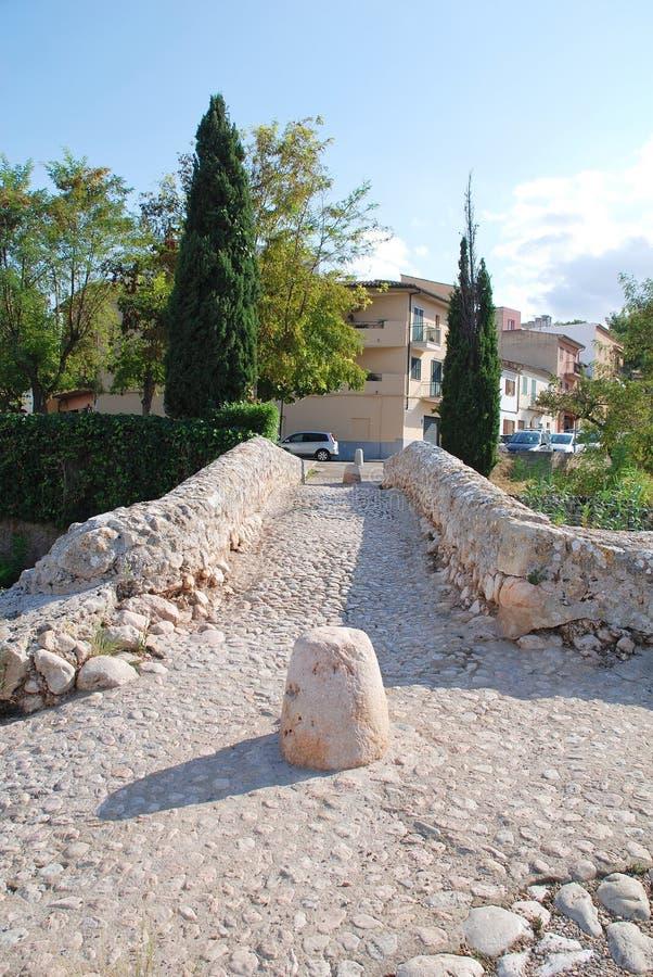 Romersk bro på Pollenca arkivbilder