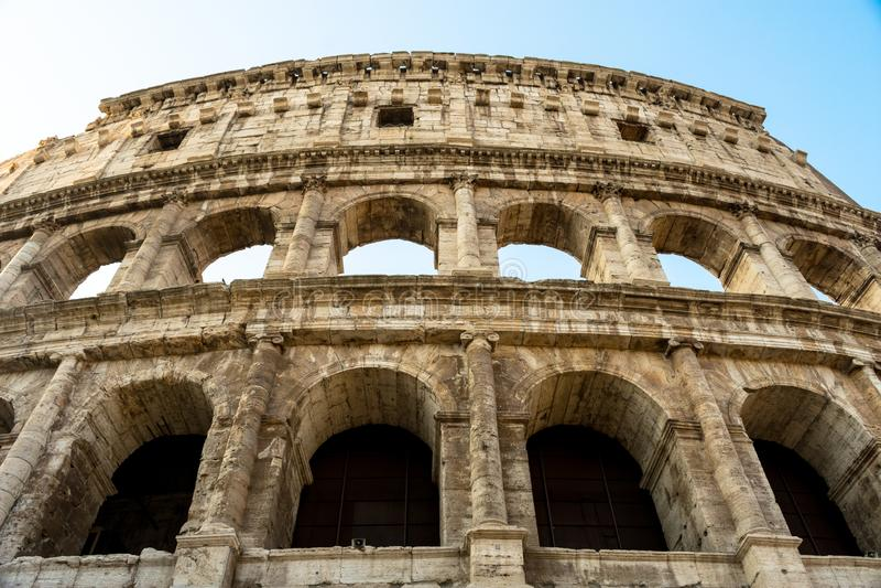 Romersk coliseum i Italien royaltyfria foton