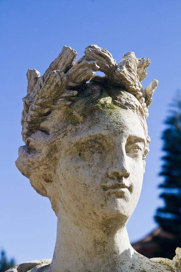 Romersk head staty royaltyfri fotografi
