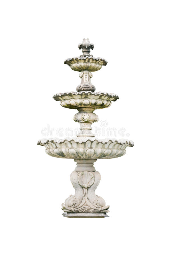 Romersk isolerad springbrunnhandfat royaltyfria foton