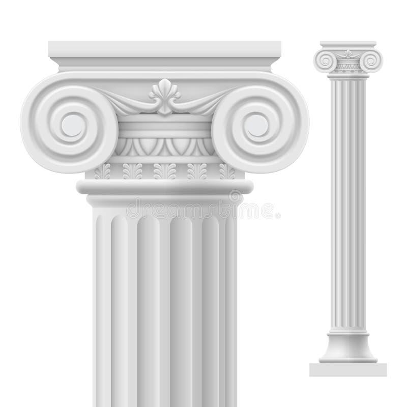 Romersk kolonn stock illustrationer