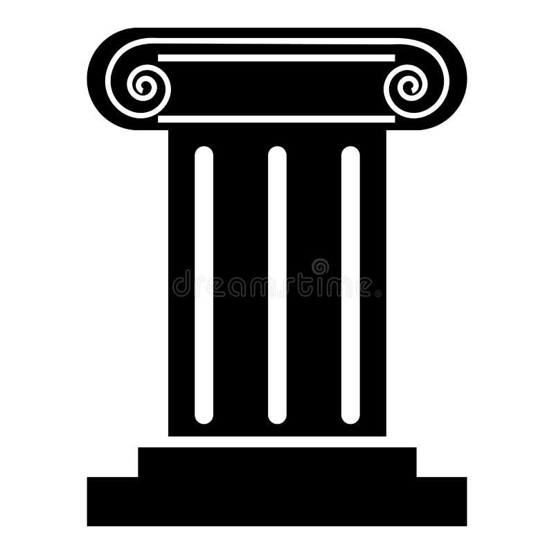 Romersk kolonnsymbol, enkel stil royaltyfri illustrationer