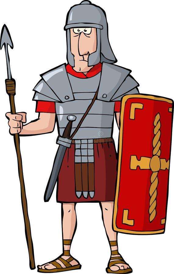 Romersk legionär royaltyfri illustrationer