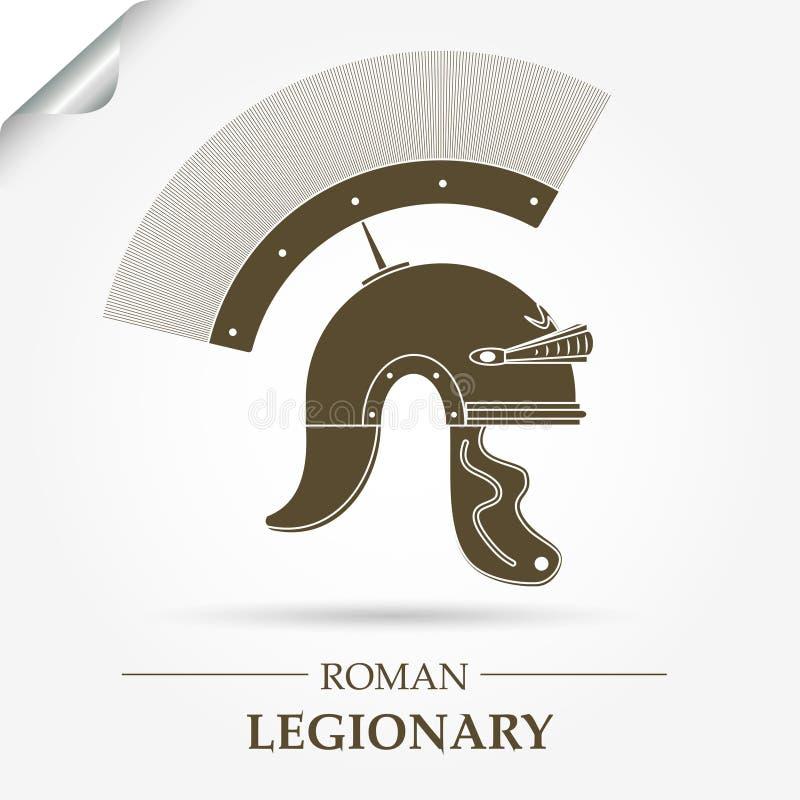 Romersk legionärhjälm royaltyfri illustrationer