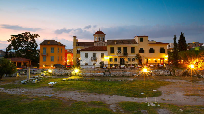 Romersk marknadsplats, Athens royaltyfri foto