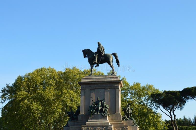 Romersk monument, Garibaldi arkivbilder
