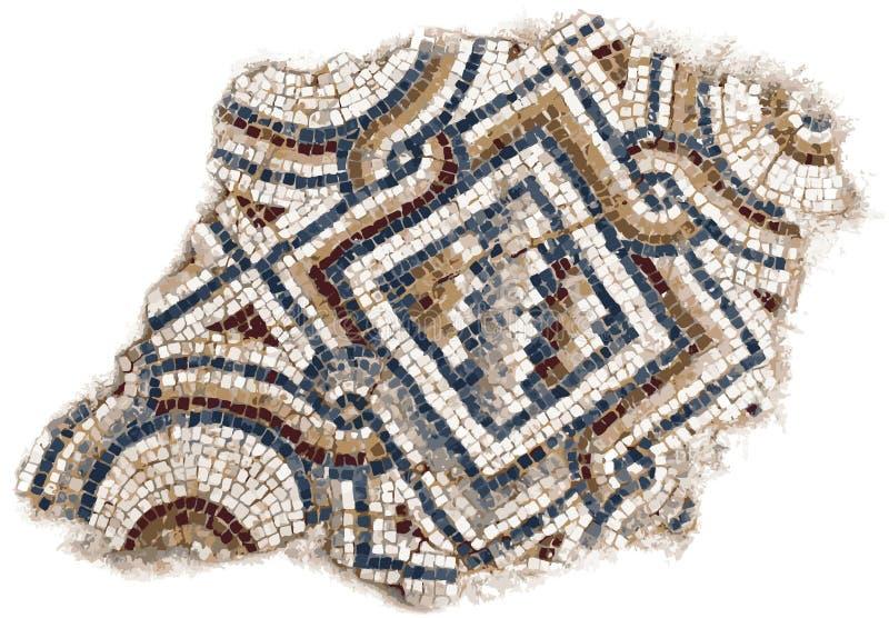 Romersk mosaikillustration stock illustrationer