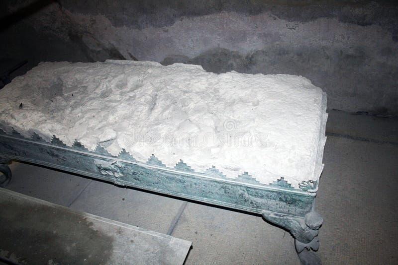 Romersk säng royaltyfria foton