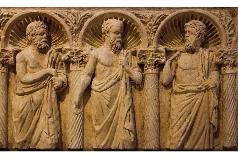 Romersk sarkofag _ Apulia eller Puglia italy royaltyfri fotografi