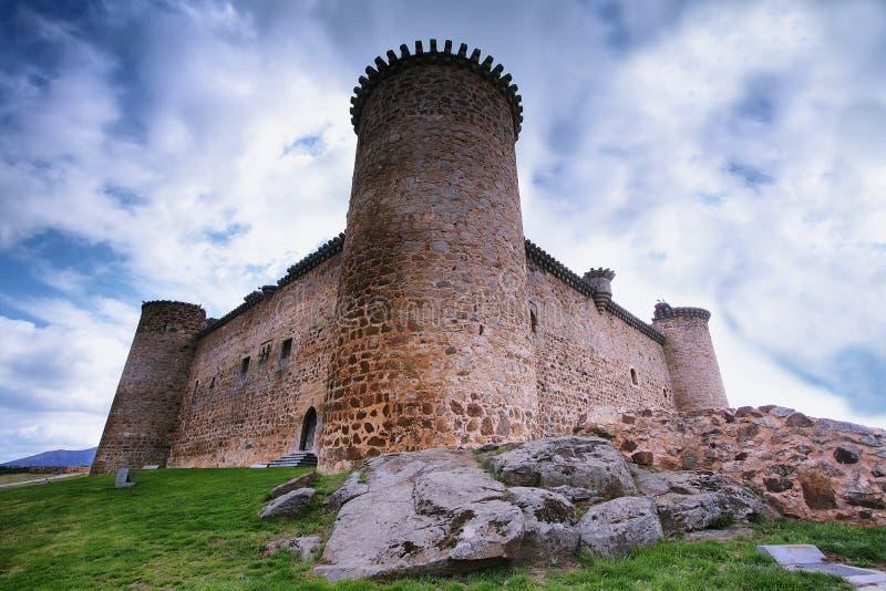 Romersk slott i El Barco de Avila fotografering för bildbyråer